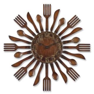 Eating utensil clock