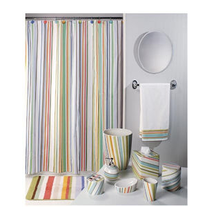 painterly striped shower products schoolhouse stripe curtain